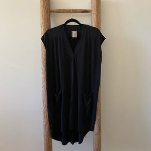 Anthropologie Black Tunic Dress